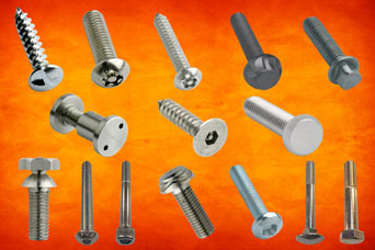 Different screw head types from Challenge Europe