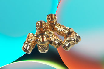 Brass threaded inserts from Challenge Europe Ltd