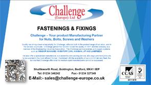 Challenge Europe Fastenings & Fixings Brochure